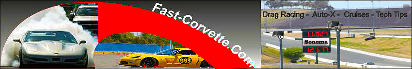fast corvette header drag racing auto-X and tech tips