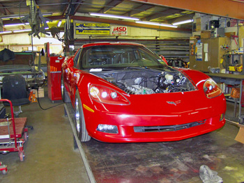 begging photo of C6 race car project